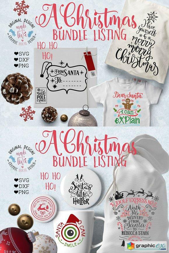 Christmas Bundle Cut Files » Free Download Vector Stock