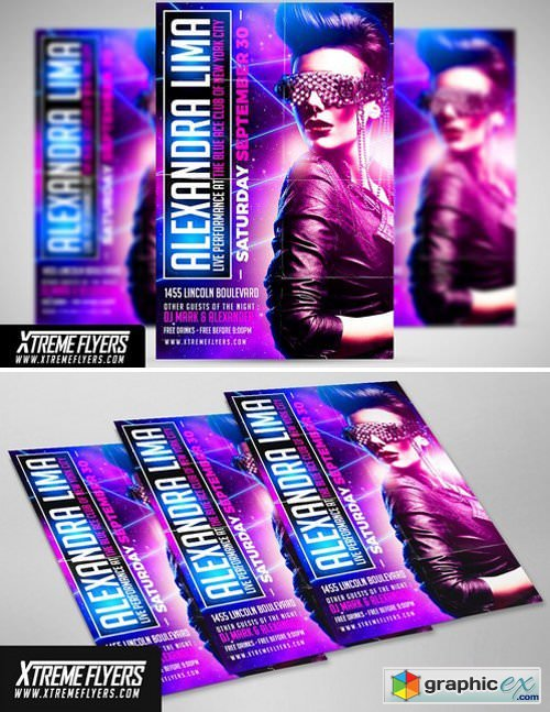 Guest DJ Flyer Template 1815170 » Free Download Vector Stock