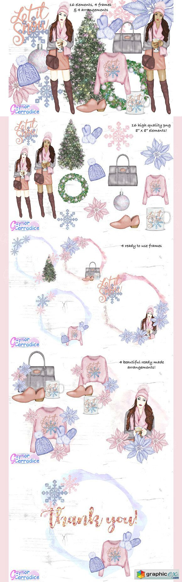 Winter fashion Clipart