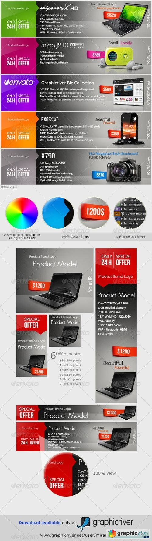 Web Marketing Banners & Advertise - PSD Templates 2772833