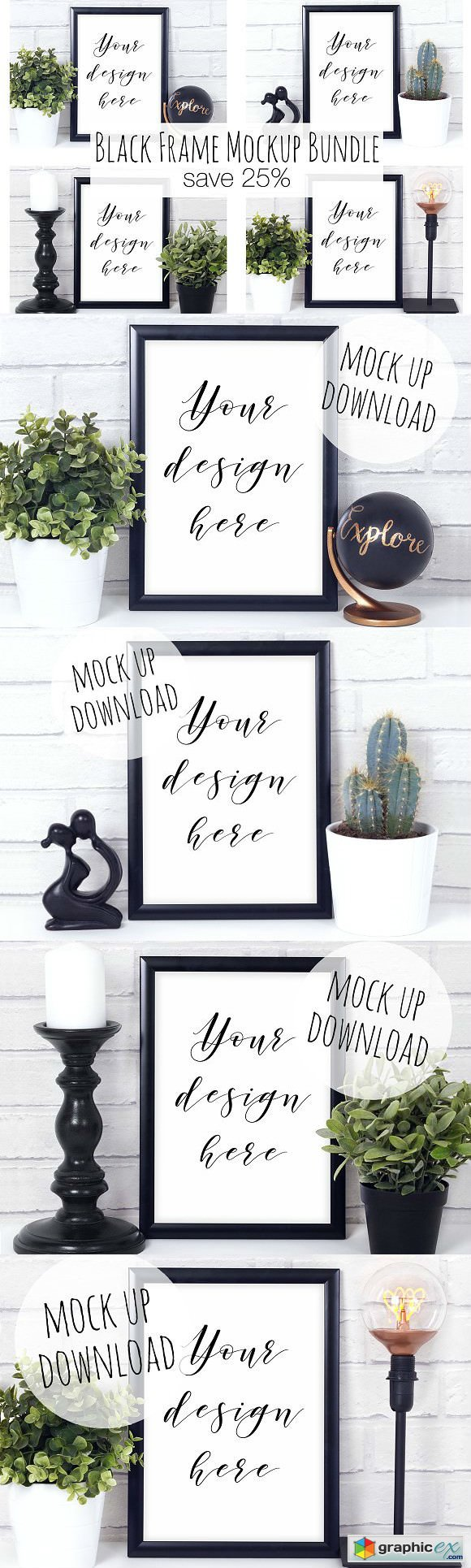 Black Frame Mock Up Bundle