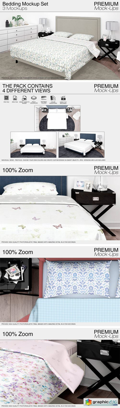 Bedding Mockup Set 1828056