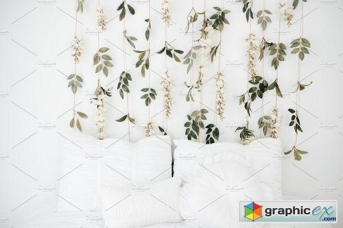 Sage Tapestry Styled Stock Photos