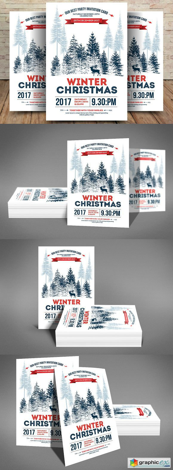 Minimal Christmas Winter Flyer