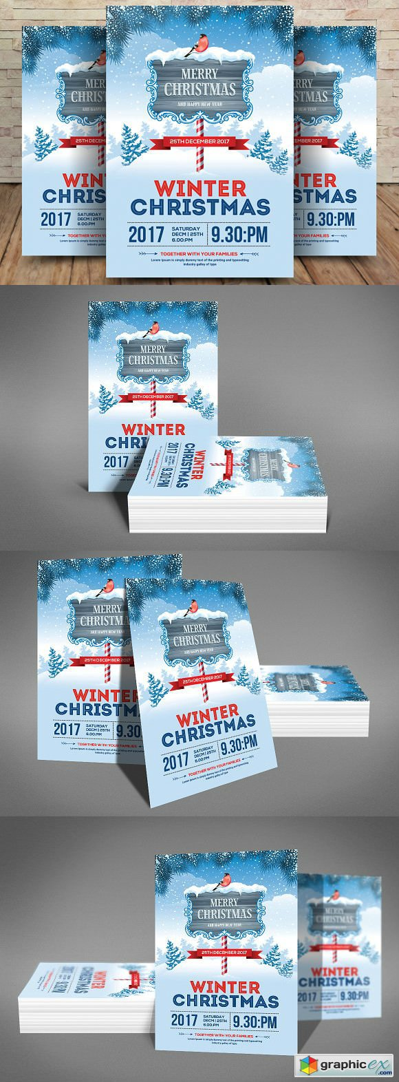 Merry Christmas Flyer Template 2019763