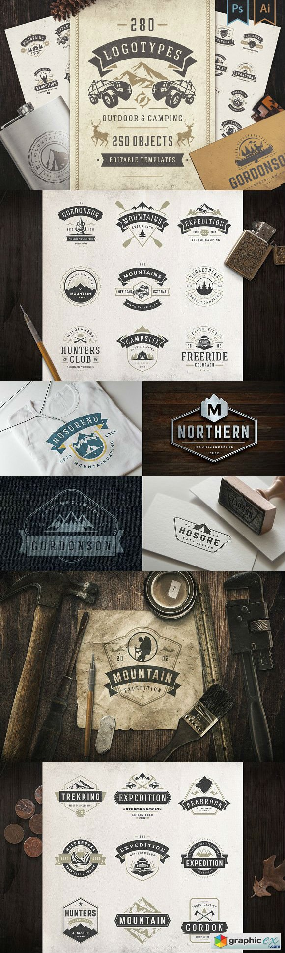 280 Outdoor logos and badges