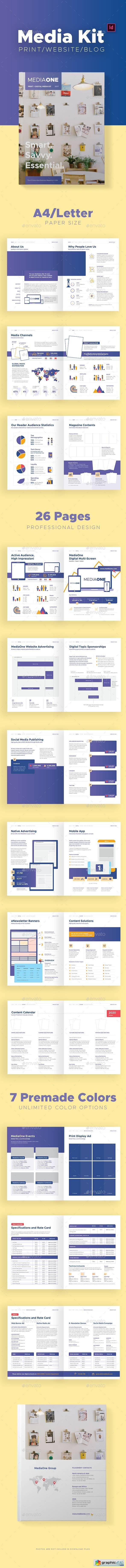 Print And Digital Media Kit Template Free Download Vector Stock