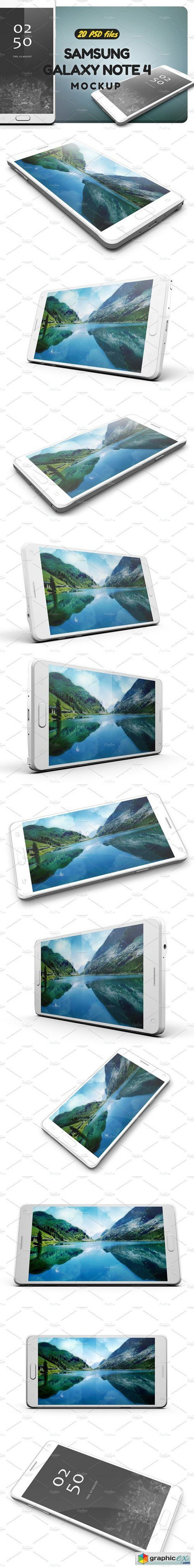 Samsung Galaxy Note 4 Mock-up