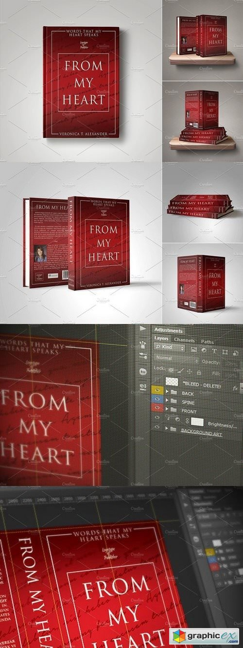 Customizable Book Cover Template 15