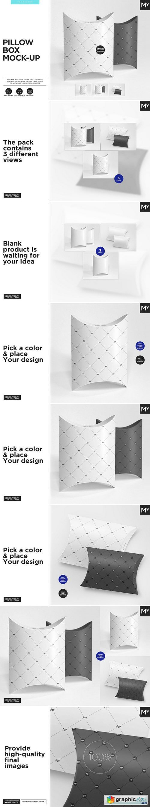 Pillow Box Mock-ups Set