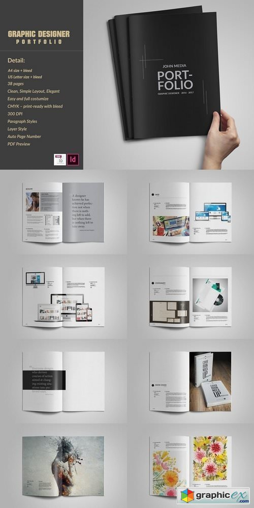 Graphic Designer Portfolio Template Free Download Vector