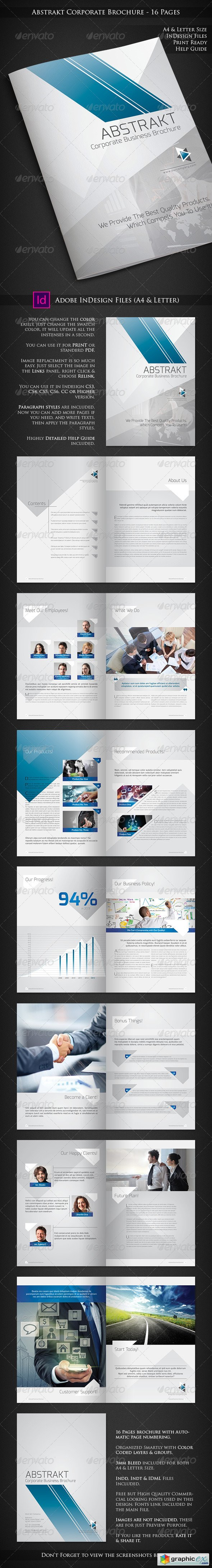 Abstrakt - Corporate Brochure Design - 16 Pages
