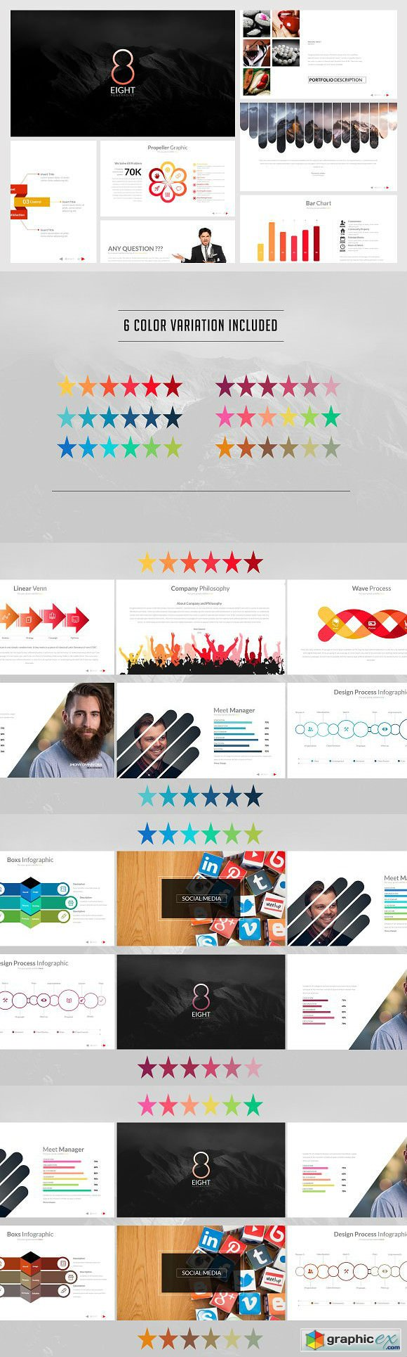 Eight powerpoint template free download vector stock image eight powerpoint template toneelgroepblik Images