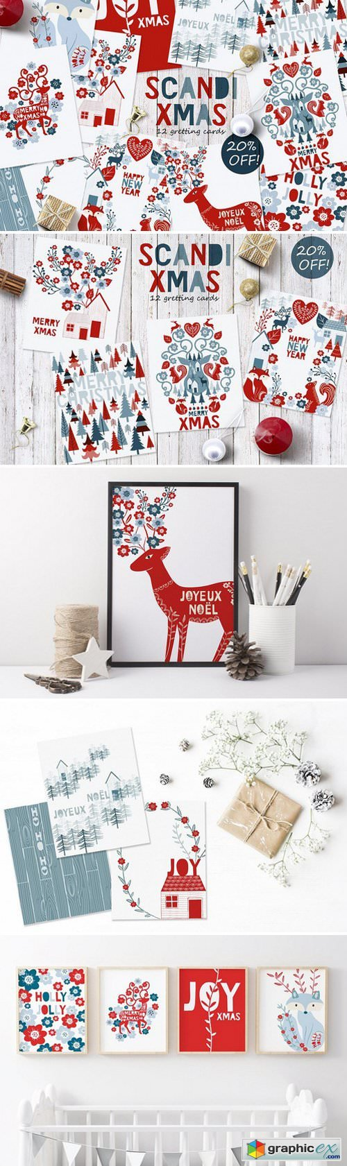 Scandi greeting cards