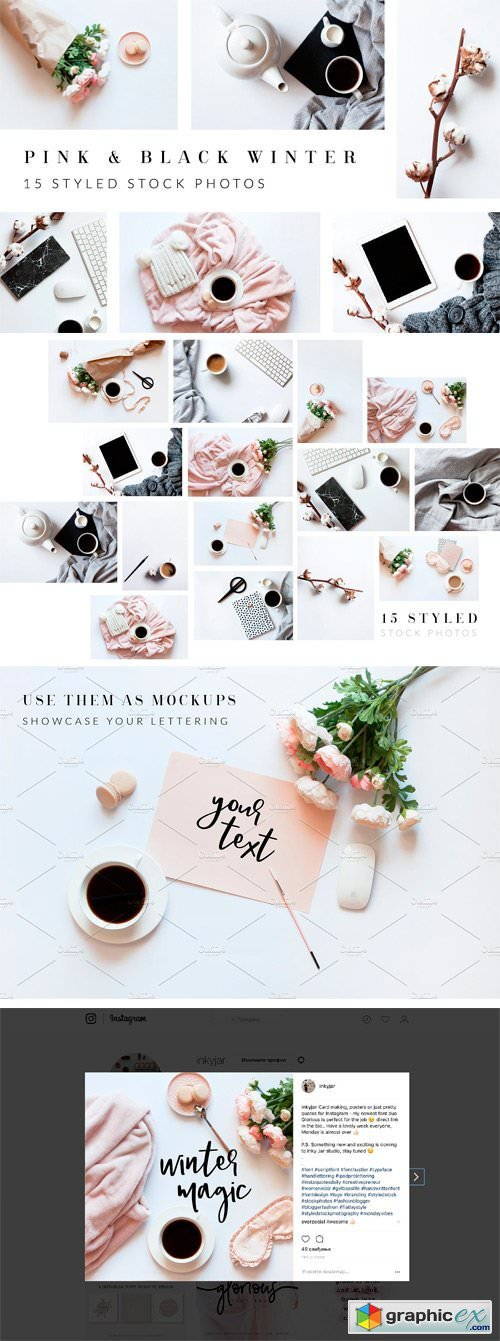Pink & Black Styled Stock Bundle