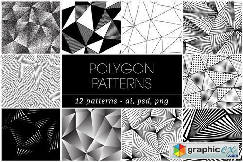 12 POLYGON TRIANGLE PATTERNS » Free Download Vector Stock