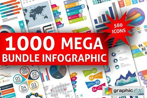 1000 Big Bundle Infographic Elements 2035521