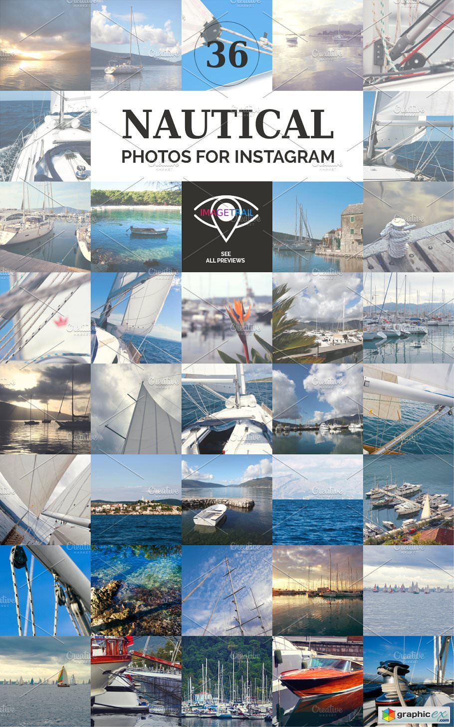 INSTAGRAM nautical photo set