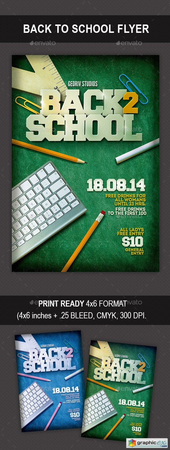 Back to School Flyer 10047912