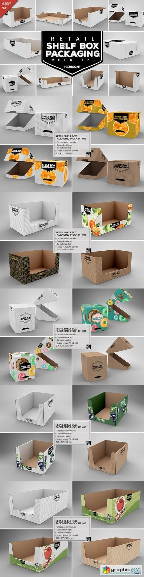 Retail Shelf Box Packaging Mockups1 Free Download Vector Stock