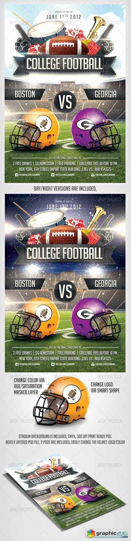 College Football Flyer Template 2921123