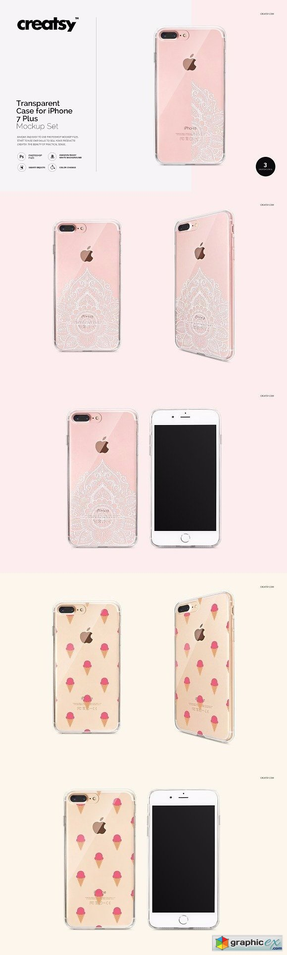 transparent iphone case mockup set  u00bb free download vector