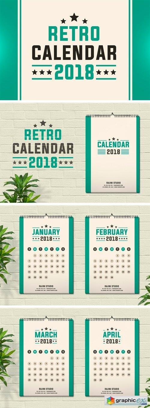 Retro Calendar 2018