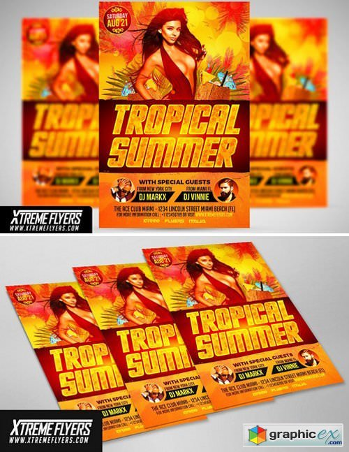 Summer Party Flyer Template 1809988