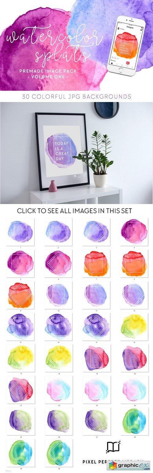 Watercolor Splats Insta Pack [1]