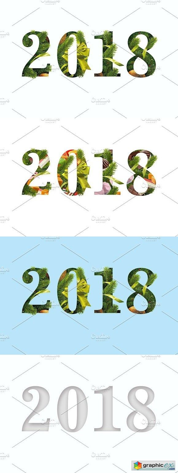 2018 New Years templates