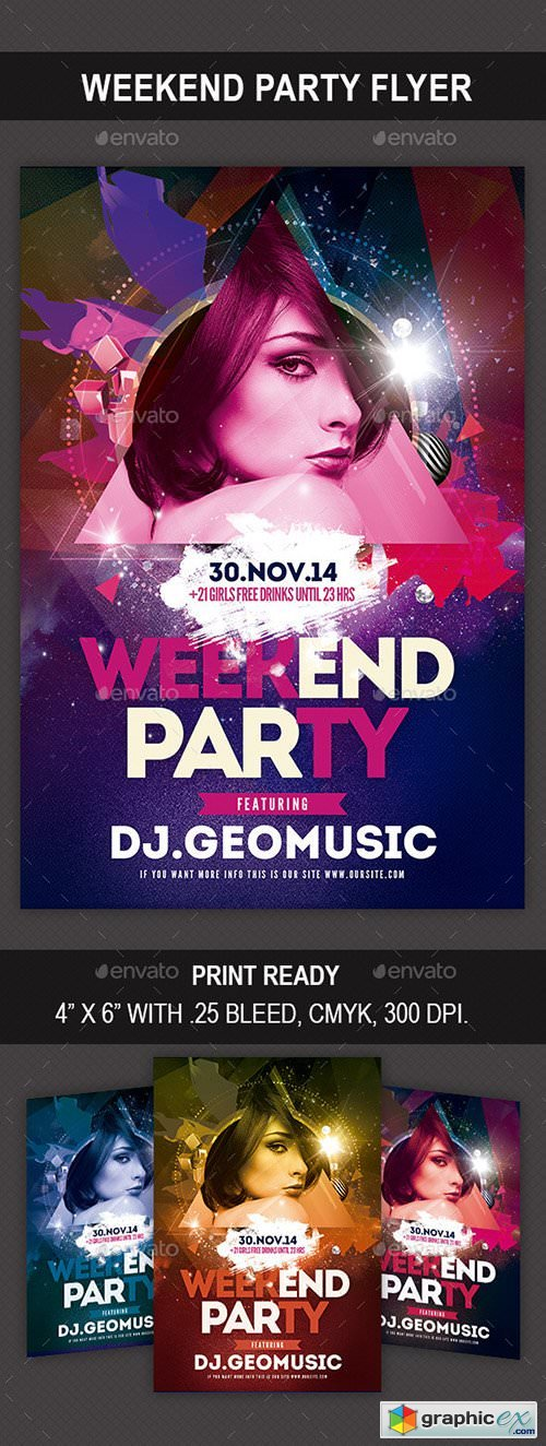 Weekend Party Flyer 9423241