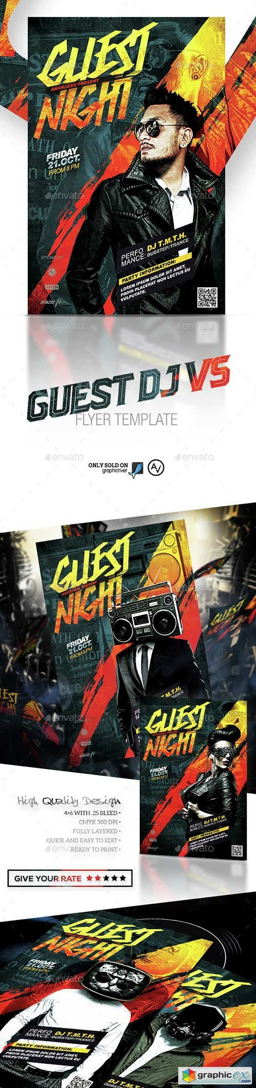 Guest DJ Flyer Template V5