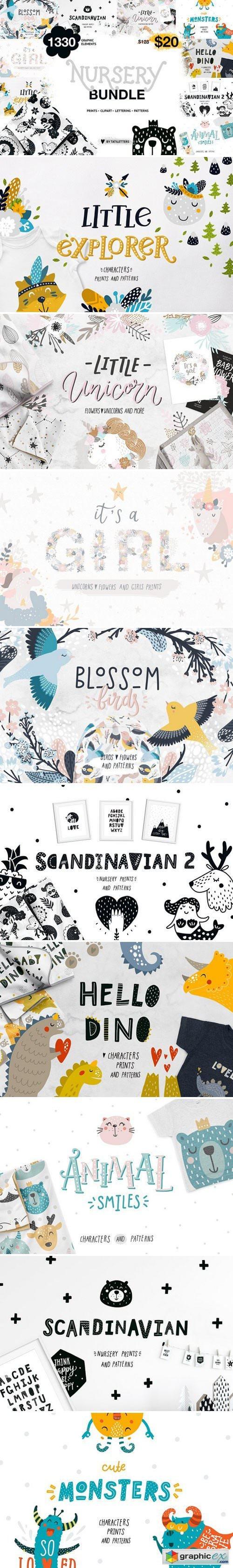 Nursery bundle - Prints patterns