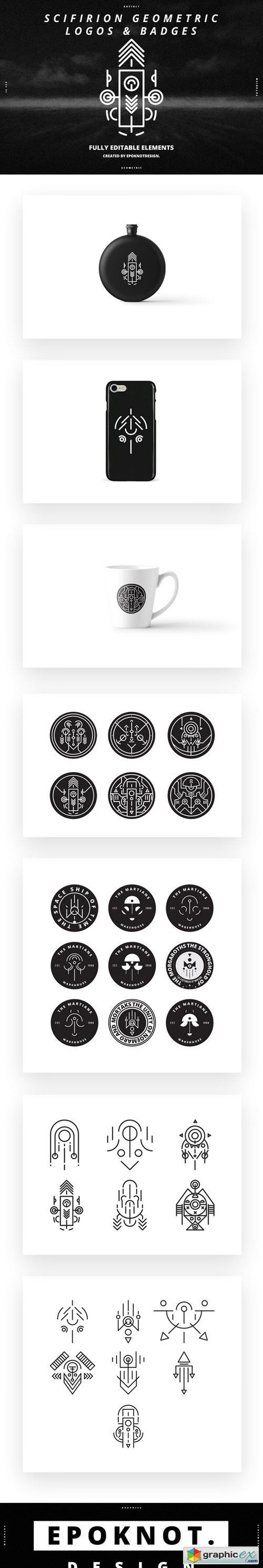 Scifirion Geometric Logos and Badges