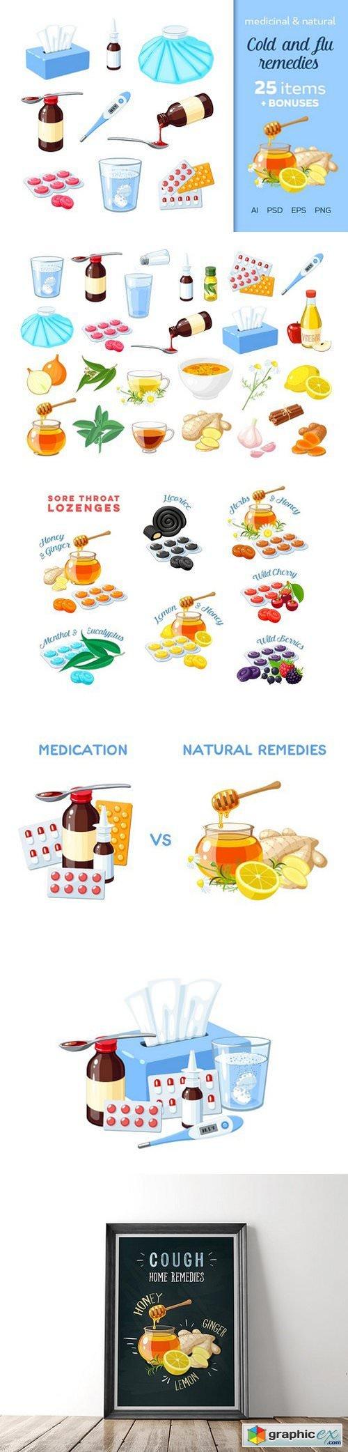 Medicinal and natural flu remedies