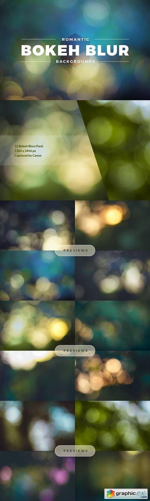 Romantic Bokeh Blur Backgrounds Pack