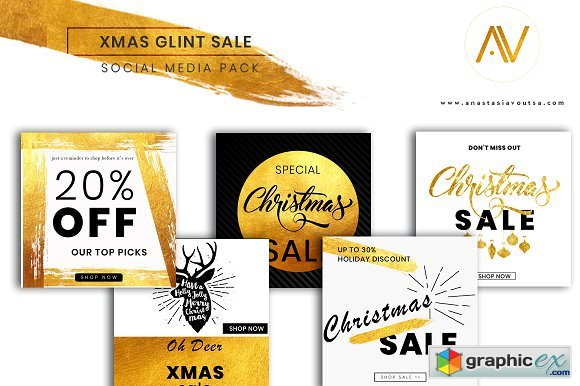 XMAS GLINT SALE SOCIAL MEDIA PACK