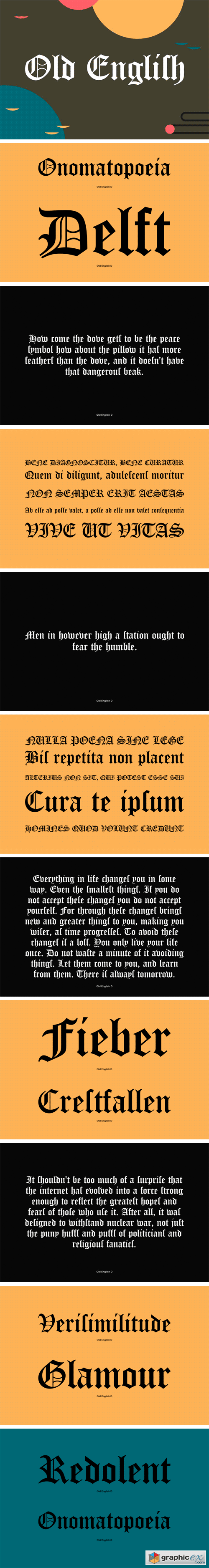 Old English Font Family