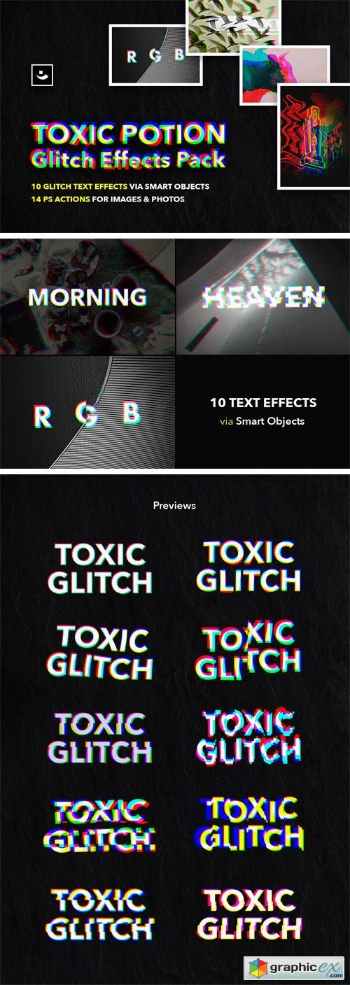 Toxic Potion Glitch Effects Pack » Free Download Vector Stock Image