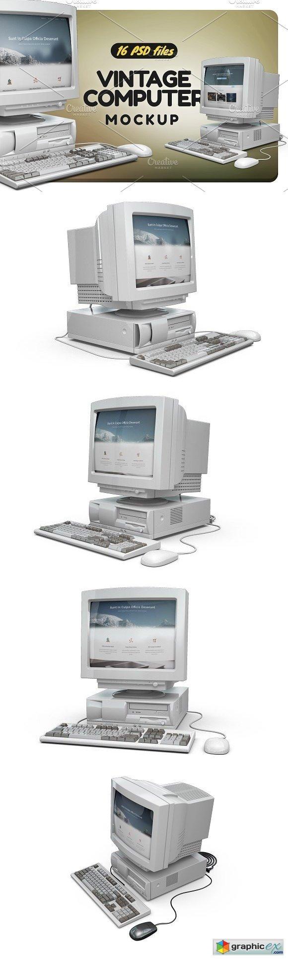 Vintage Computer Mock-up