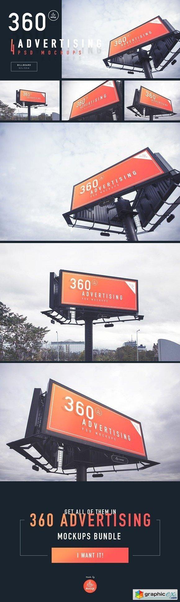 Billboard - 360 Advertising Mockups