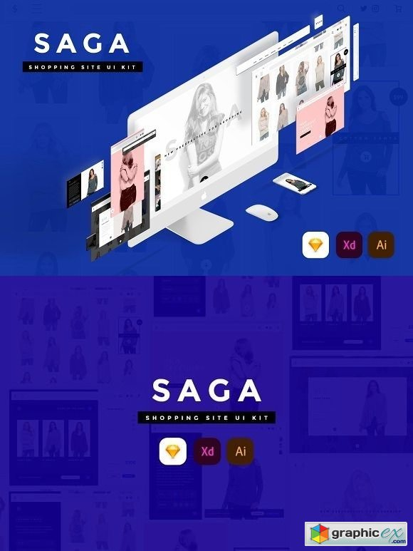 SAGA Creative Shopping site UI Kit