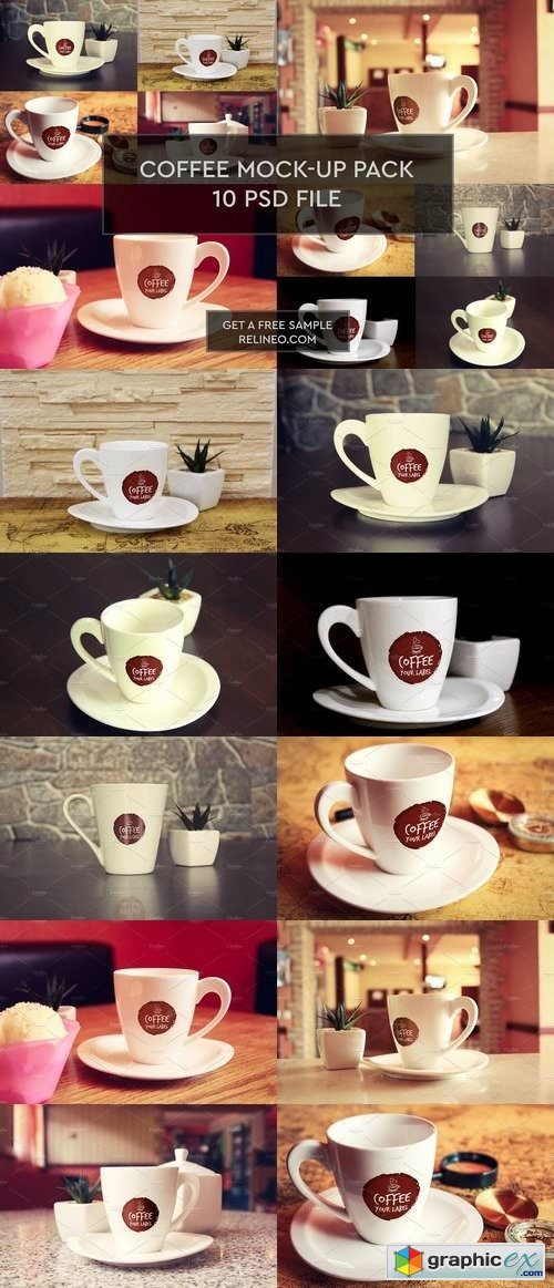 Coffe Cup/Mug 10 PSD Pack
