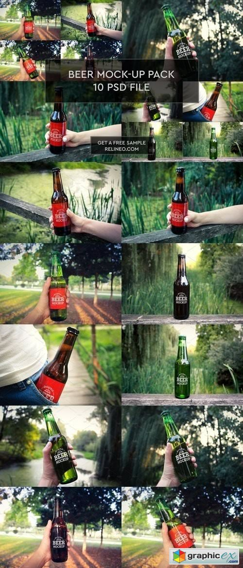Beer Bottle 10 PSD Pack