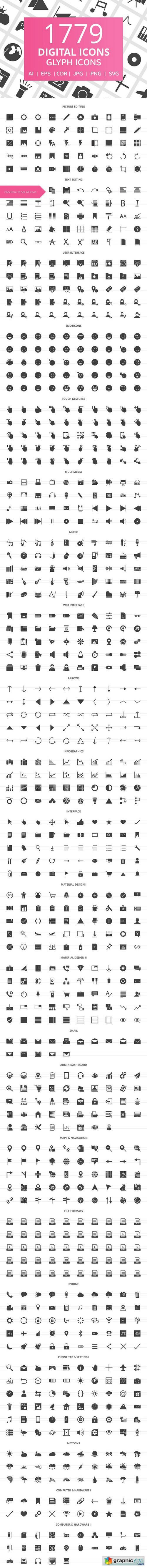 1779 Digital Glyph Icons