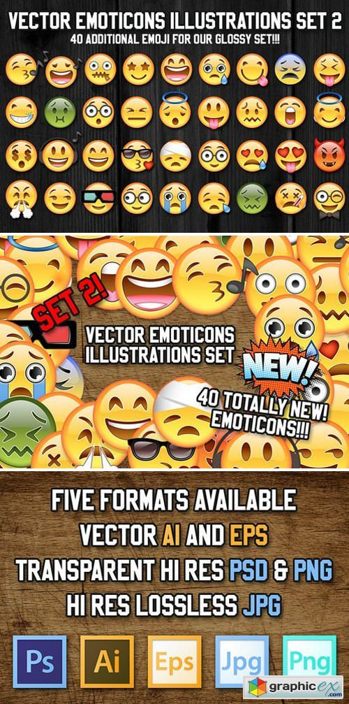 36 Vector Emoji Illustration Set 2 » Free Download Vector