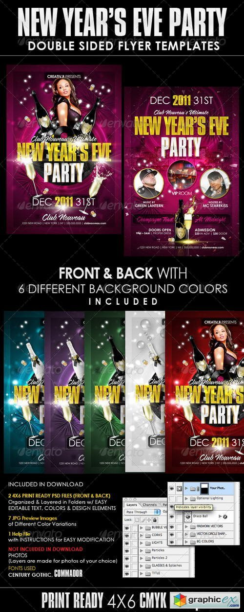 New Years Eve Party Flyer Templates