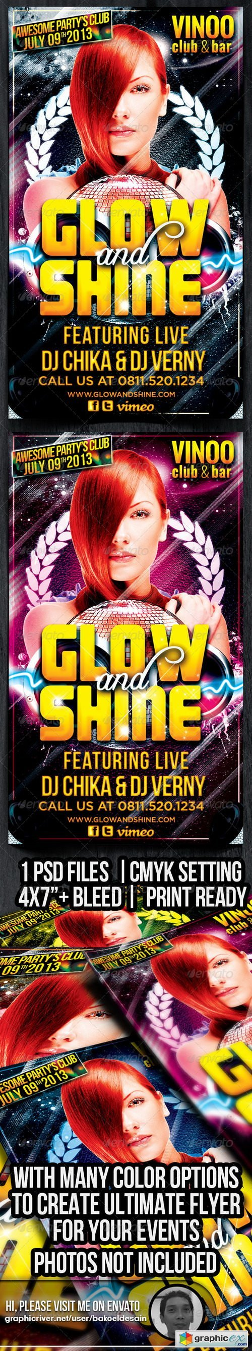 Glow and Shine Party Flyer 4827379