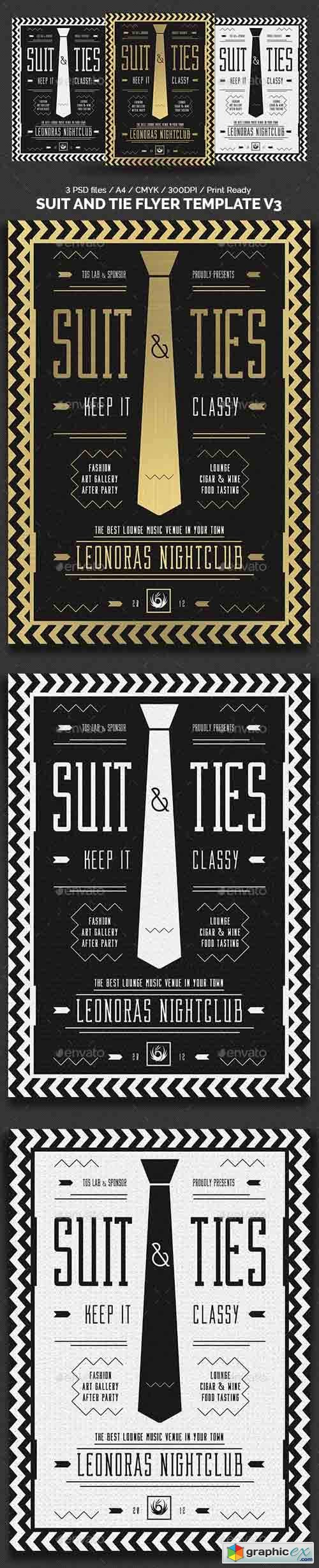 Suit and Tie Flyer Template V3
