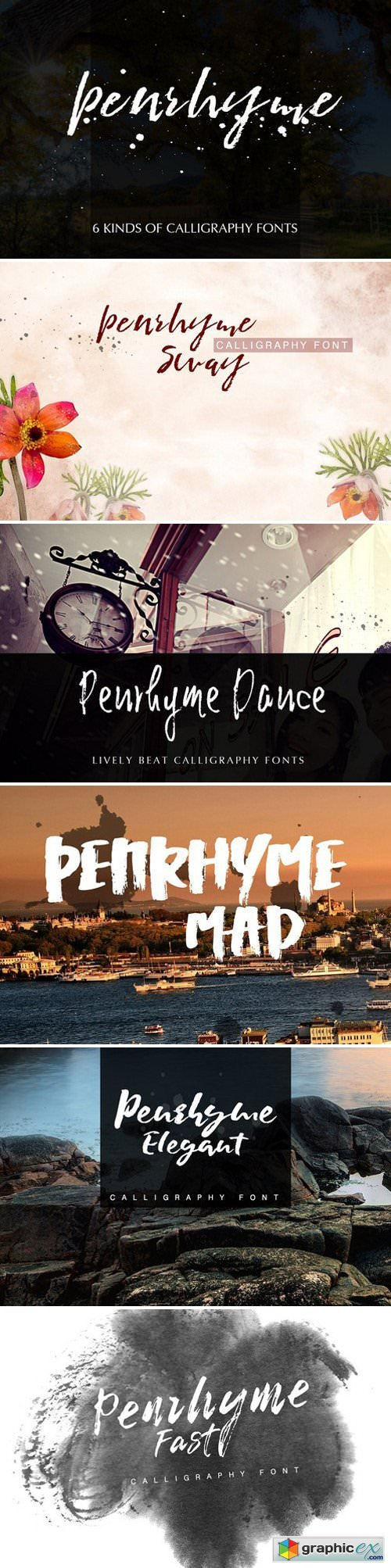 Penrhyme Calligraphy Font